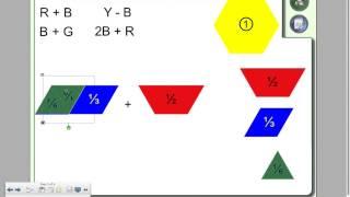 Add Subtract Fractions Pattern Blocks