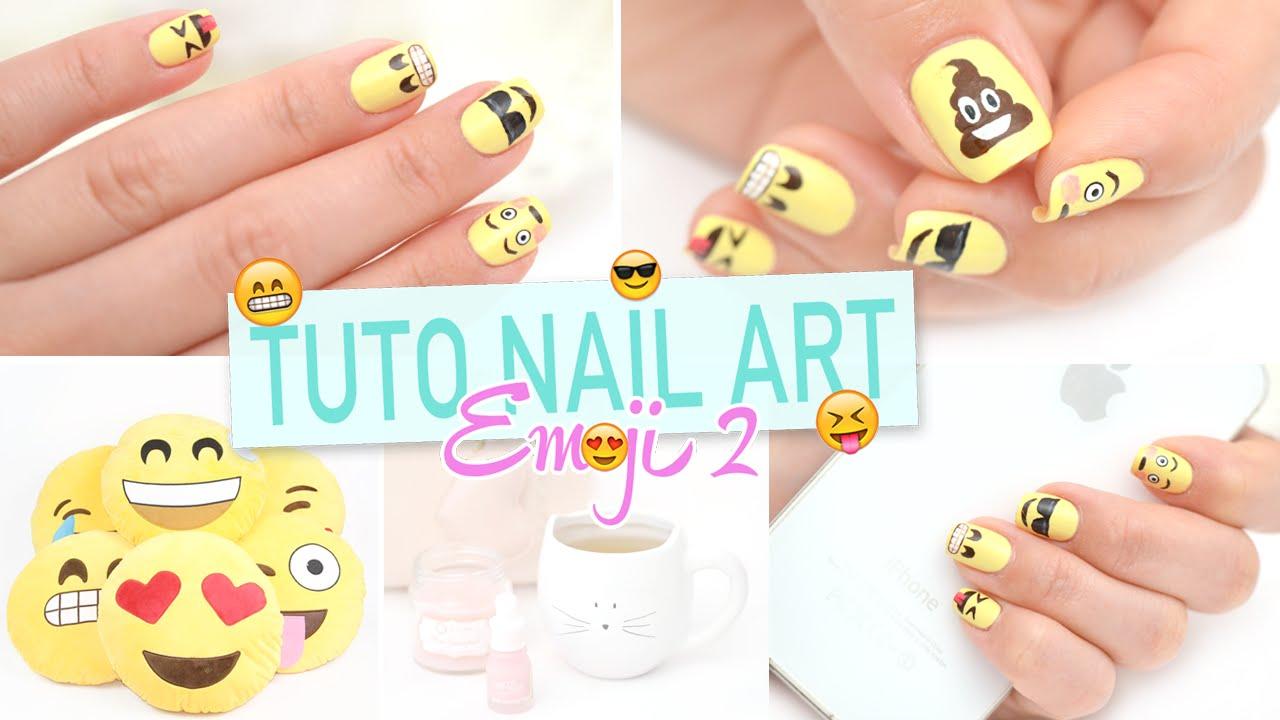 Nail art - Emoji 2 ♡ - YouTube