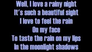 Eddie Rabbitt I Love A Rainy Night Lyrics