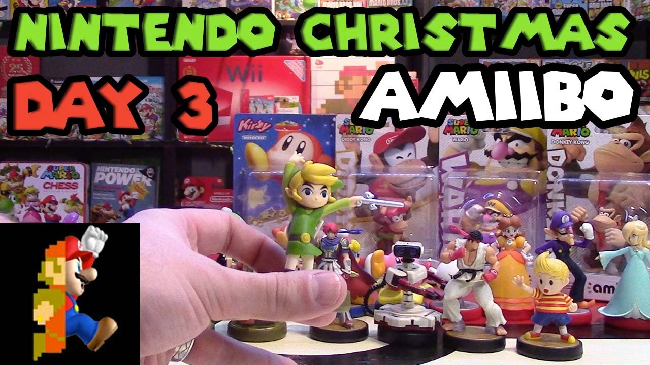 Nintendo Christmas: Day 3 - Amiibo Figure Variety! - YouTube