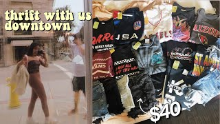 COME THRIFT WITH ME DOWNTOWN! what $40 gets..