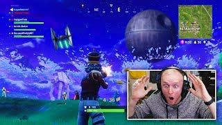Building THE DEATH STAR in Fortnite Battle Royale!
