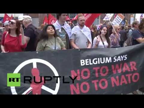 Poland: Hundreds rally outside US embassy in Warsaw to oppose NATO