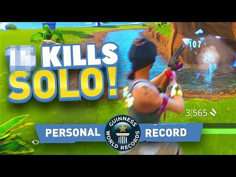 HIGHEST SOLO KILL RECORD ON FORTNITE BATTLE ROYALE!