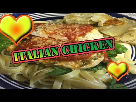 Italian Dressing Marinated Baked Chicken