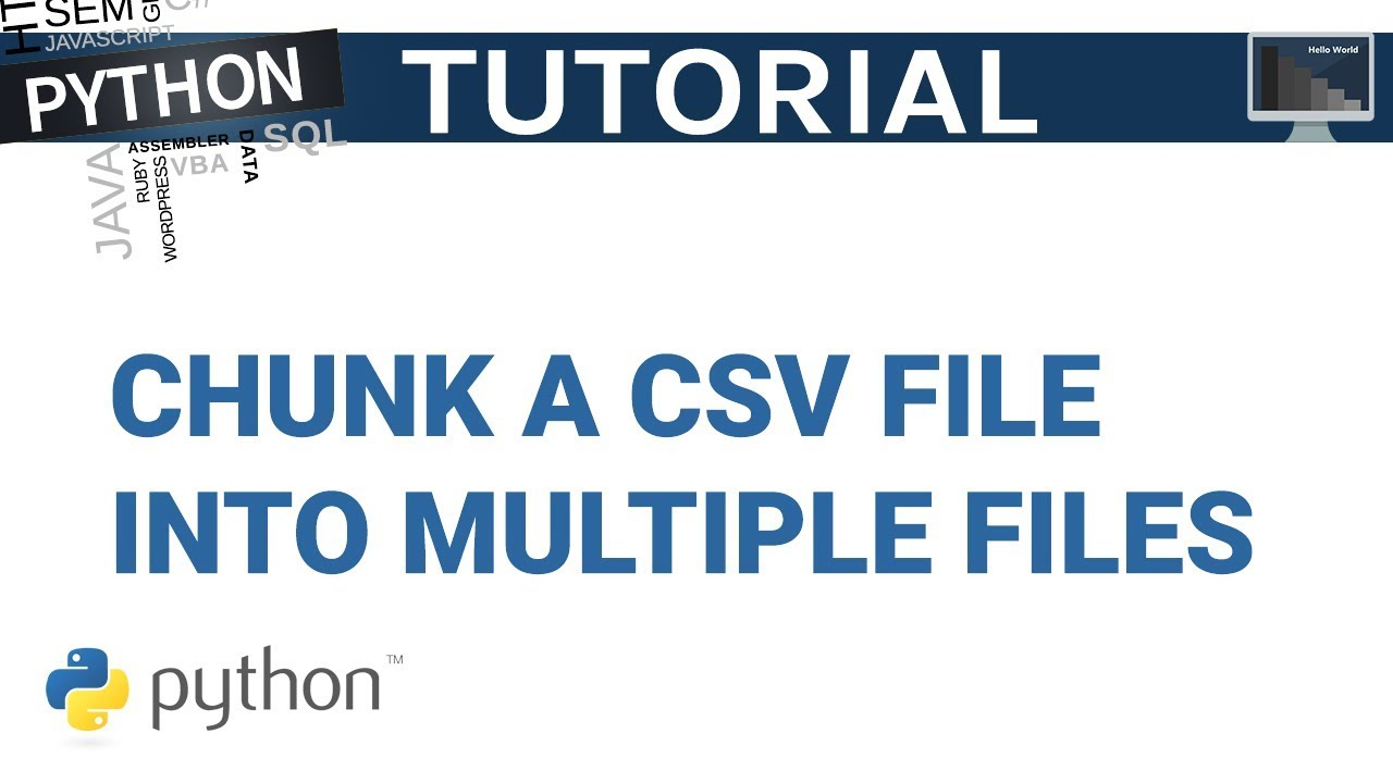 Work with large CVS file by chunking the files into smaller files | Python  Tutorial