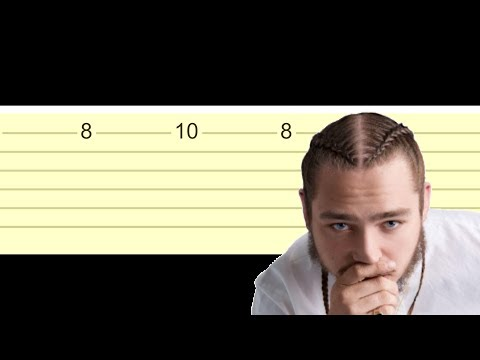 Post Malone - Rockstar (Slow Easy Guitar Tabs Tutorial)