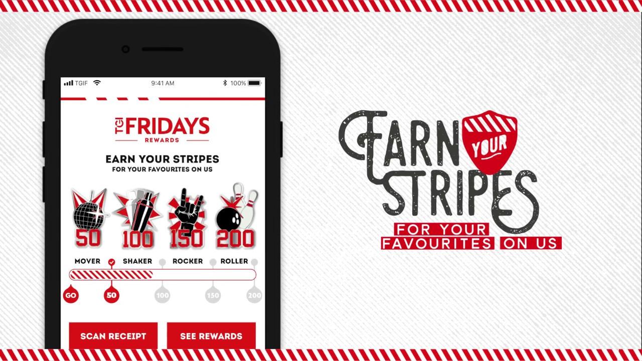 TGI Fridays Mobile App - How to earn rewards