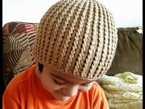 👦Como tejer gorro en crochet para niños👬 - YouTube