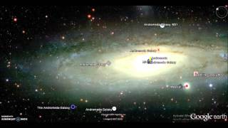 Journey from our solar system to Andromeda