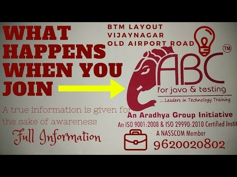 When You Join ABC For JAVA & Testing in Bangalore