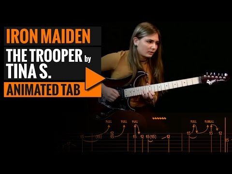 THE TROOPER - IRON MAIDEN - COVER BY TINA S - Animated Tab