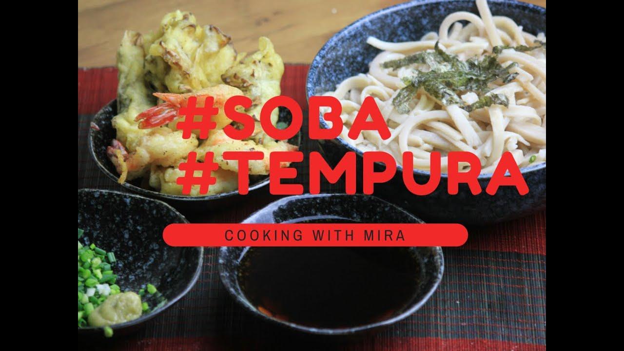comment faire des nouilles soba avec tempura cooking with mira youtube. Black Bedroom Furniture Sets. Home Design Ideas