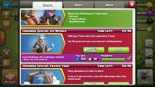 Clash of Clans NEW Troop ICE WIZARD! Clashmas Gift #3 Attack