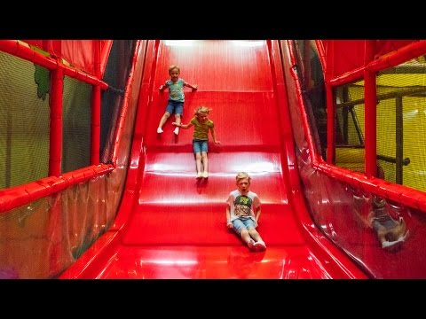 Busfabriken Indoor Playground Fun for Family and Kids (short and fast-paced edit)