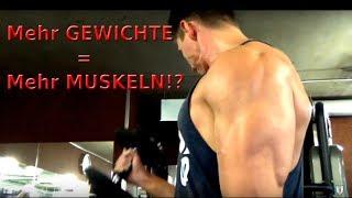 Mehr GEWICHTE = Mehr MUSKELN!? | Muskelaufbau durch HOHE Gewichte | ABNEHMEN-BERLIN.COM