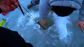 ЭТО ЧТО ВОБЩЕ БЫЛО ЛОМАЮТ И ОТРЫВЮТ БАЛАНСИРЫ рыбалка зимой на судака
