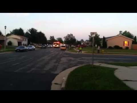 Delavan fire department responds to fully involved house fire
