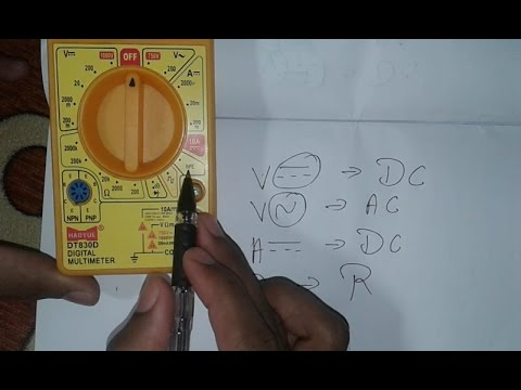 Introduction of Digital Multimeter, Easy to Understand ( In Hindi )