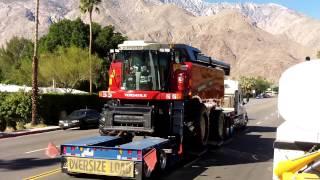 Versatile DT450 Tractor (Delta Track) and Versatile RT490 Combine in Palm Springs California