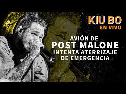 Avión de Post Malone  aterrizó de emergencia en Nueva York | Kiubo