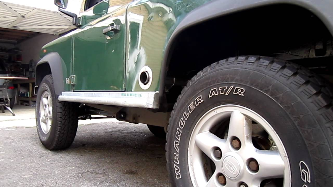 300 Tdi Side Exit Exhaust On Land Rover Defender Youtube