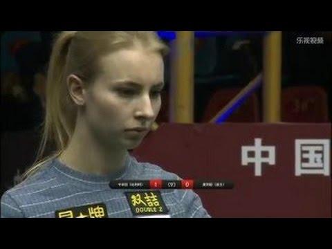 Olivia Czurpyńska vs Kamila Khodjaeva   2016 Chinese 8-ball Pool World Championship 2015 U