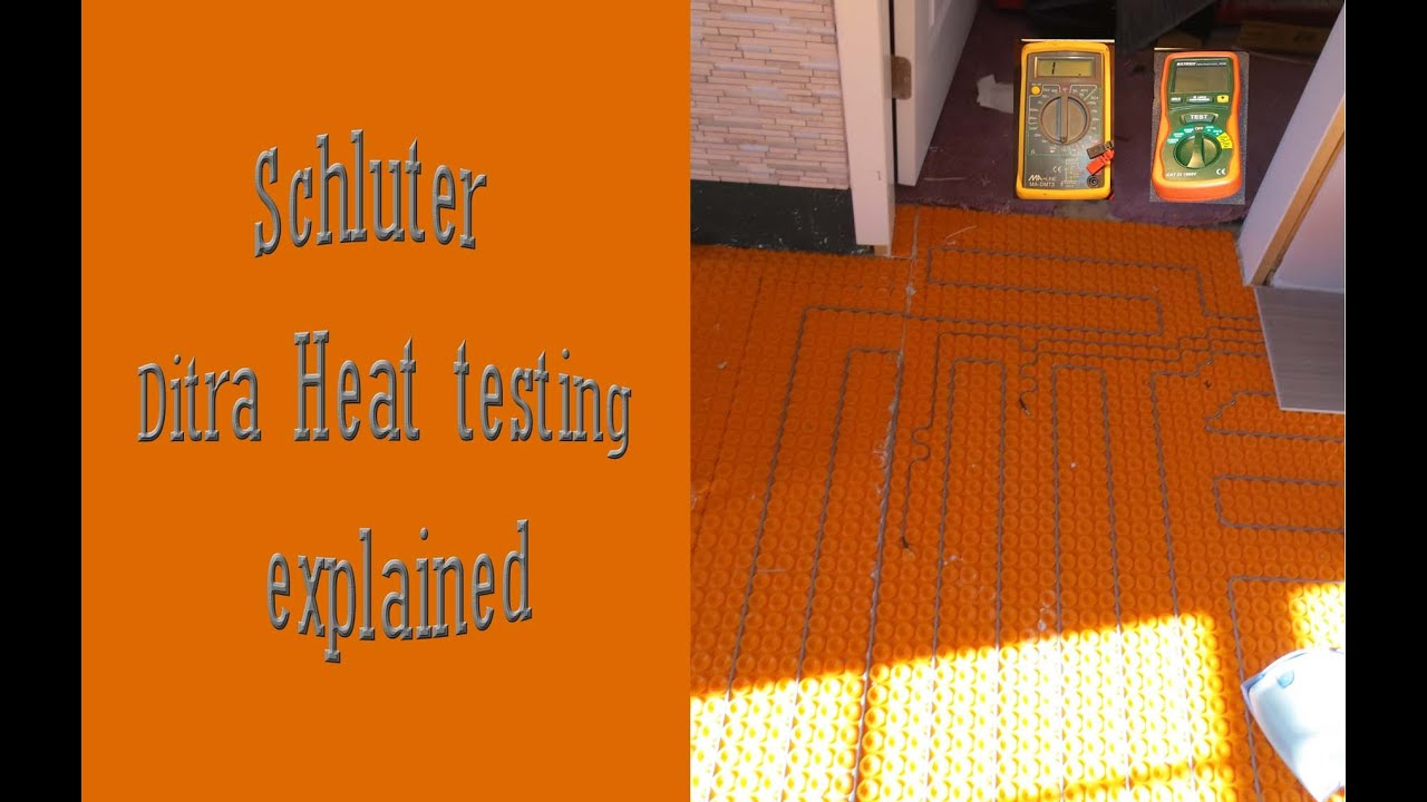 hight resolution of ditra heat wires test explained and how to