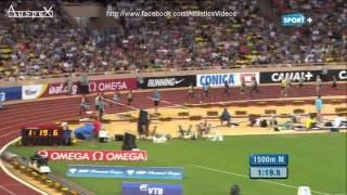 1500m men Monaco 2013, Kiprop massive 3.27.72 (PB), Farah 3.28.81 european record