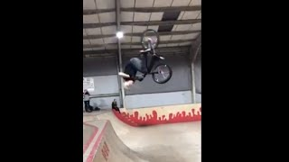 Guy Lands A Clean Double Backflip On His Bmx