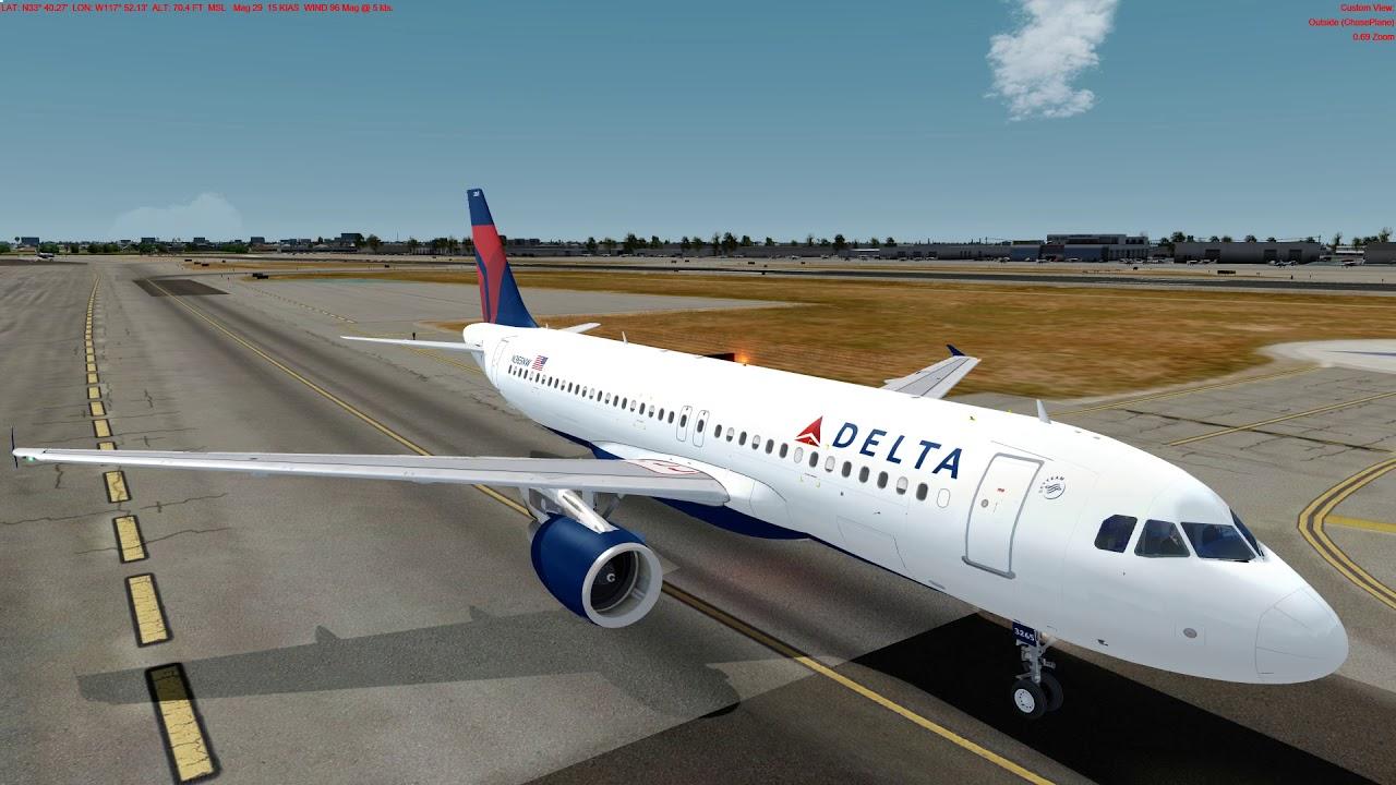 [P3D 4 2] FSLabs A320-X Landing on Santa Ana's John Wayne KSNA by Nicolas  Matus Sepulveda
