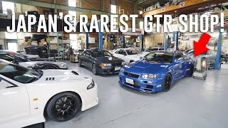 Viewing Japan's RAREST Skyline GTR Shop *Top Secret Garage*