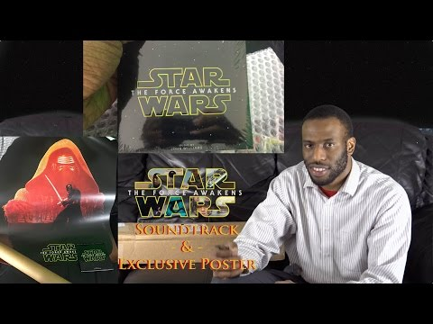 SOUNDTRACK UNBOXING -  Star Wars: The Force Awakens SOUNDTRACK Bundle with Exclusive Poster