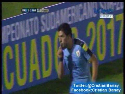 Uruguay 4 Paraguay 0 (Relato Carlos Muñoz)  Eliminatorias a Rusia 2018