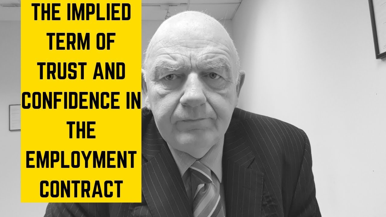 mutual trust in employment contracts An example of this is the 'duty of mutual trust and confidence', as without this implied term, the contract of employment can't work 'officious bystander' test - if a term is so obvious or assumed it will be implied into the contract.