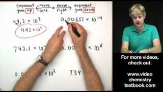 Fixing Incorrect Scientific Notation