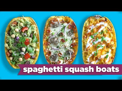 Spaghetti Squash Boats - Easy Meal Prep Healthy Dinner Recipes! - Mind Over Munch