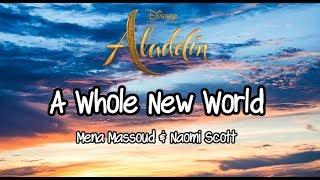 "Mena Massoud, Naomi Scott - A Whole New World (From ""Aladdin""/Lyrics)"