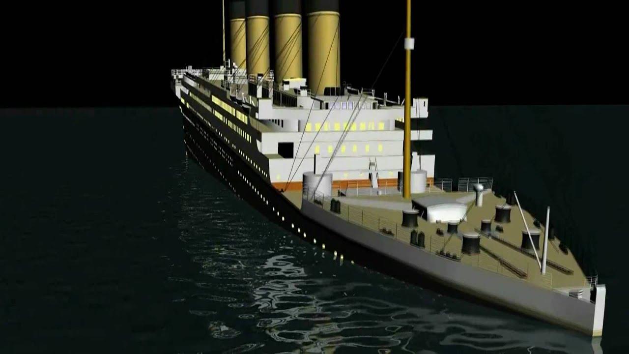 Titanic Ship 3d Wallpaper Free Download 3d Titanic Sinking Animation Hd Youtube