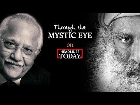 Dr. Prathap C. Reddy with Sadhguru   Through the Mystic Eye