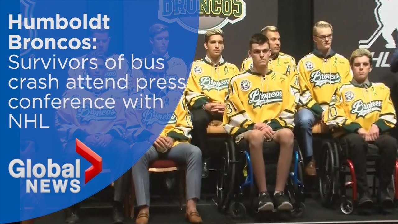 Humboldt Broncos bus crash survivors reunite for first time ahead of NHL Awards