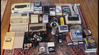 HUGE Vintage Retro Computer Unboxing!!!  Commodore Amiga C64 Vic-20 Joysticks Games Drives Disks