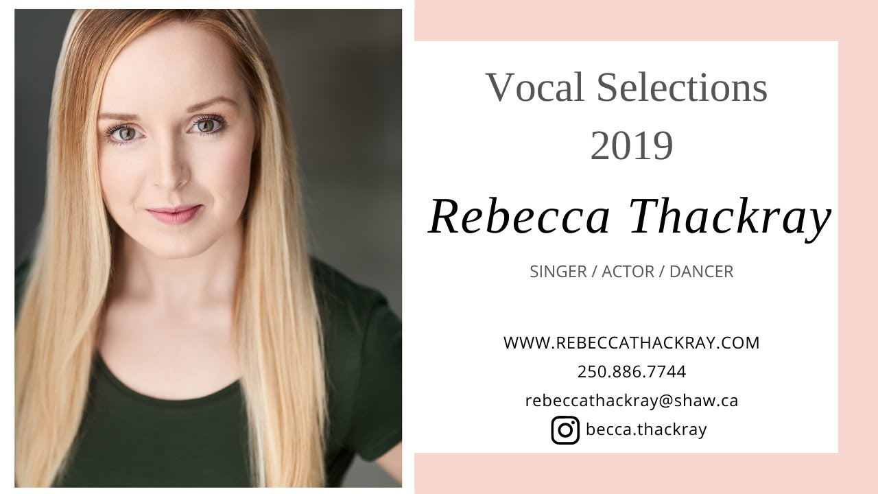 Rebecca Thackray - Vocal Selections 2019