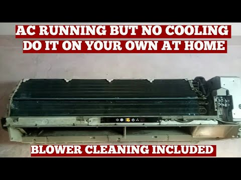 Air Conditioning Service-AC Running But Not Cooling-Split AC Coil Cleaning No Chemical Spray Pump