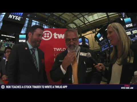 $TWLO NYSE Code Jam - Kenny Polcari builds his first Twilio Apps