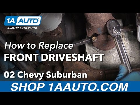 How to Replace Front Drive Shaft 00-06 Chevy Suburban 1500 - YouTube