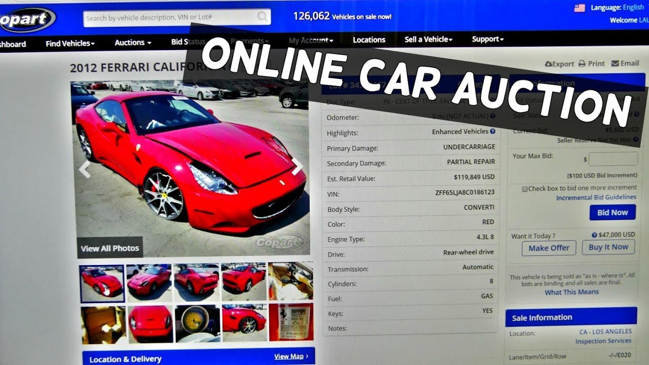 BIDDING ON CARS AT COPART CAR AUCTIONS