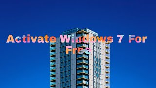 How to (ACTIVATE) Windows 7 (GENUINE) for free in (HINDI/URDU)