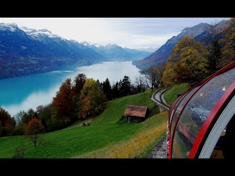 Scenic Switzerland from The Brienz Rothorn Bahn (Cog Railway