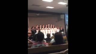 Unai Chorale singing Bila Bunyi Sangkakala